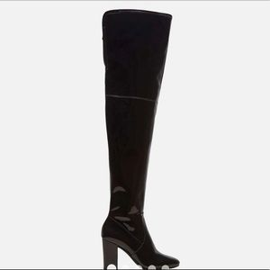 Glossy Over the Knee Boots
